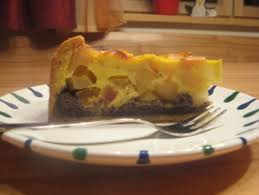 apfel mohn torte mit schmandguss