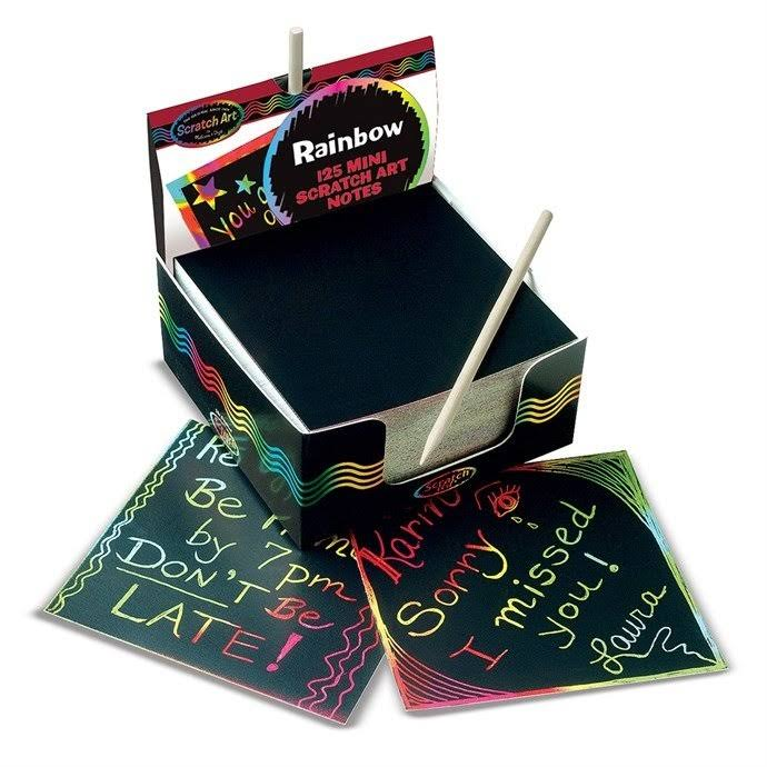 Melissa & Doug Rainbow Mini Scratch Art Note Cubes