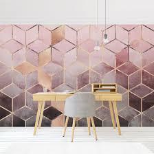 heimwerker vlies fototapete geometrisch modern rosa weiß