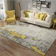 kad teppich einfach abstrakt grau gelb teppich zuhause