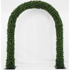 christmas arch curved green indoor outdoor 2 28m