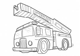 Fire Truck Coloring Pages Printable Page And Safety - Yintan.me