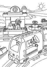 Lego Train Station Coloring Page For Kids Printable Free Duplo