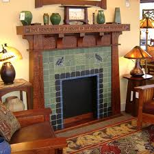 Batchelder Tile Fireplace Surround by Two Tiles I Like The Design Coming Up From The Bottom And Two