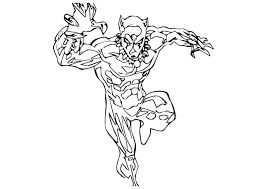 Free Printable Black Panther Coloring Pages