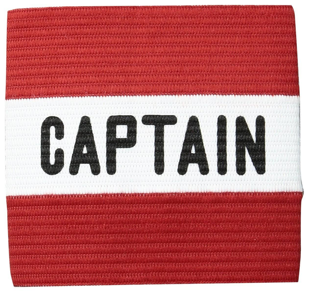 Kwik Goal Youth Captain Arm Band Sports Wristband - Red, 3 1/2""