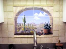 faux window tiles tropical tile murals and more pacifica tile