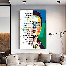 elon musk poster leinwand malerei wandkunst bild für