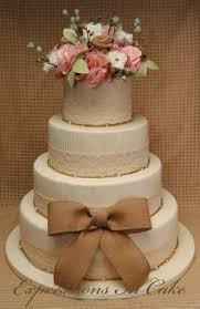 Burlap And Lace Barn Wedding CakesBarn
