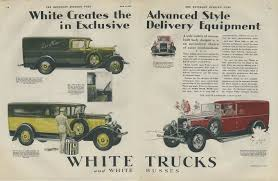 Advanced Style In Delivery Trucks White Town Sedan Panel Truck Ad 1928