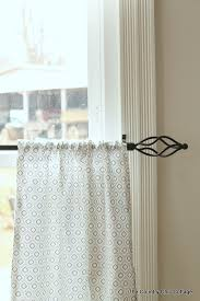 Cafe Style Curtains Walmart by How To Sew Cafe Style Curtains The Country Chic Cottage