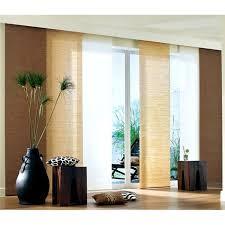 schiebevorhang maße hxb 160x57cm braun bambuslook blickdicht klettband montageanleitung zubehör waschbar 849375