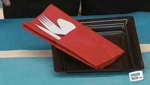 pliage de serviette en pochette à couvert minutefacile