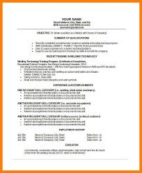 Resume For WeldingSample Welder Tempalte