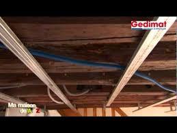 pose rail placo plafond poser un plafond suspendu gedimat ma maison de a à z