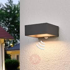 solar powered led outdoor wall light mahra sensor lights ie