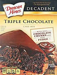 Duncan hines chocolate cake mix recipes