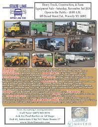100 Heavy Duty Truck Auction State Line Equipment Sale Waverly NY