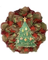 Burlap Christmas Tree Deco Mesh Handmade Wreath