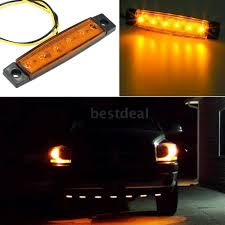 100 Truck Marker Lights 10PCS 6 LED Amber Side Light Indicator 24V For Bus Boat RV Lorries Jeep SUV Yellow