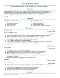 Sample Curriculum Vitae Executive Secretary