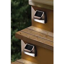 Solar Lights For Deck Stairs by Moonrays Solar Mini Deck Step Light Bed Bath U0026 Beyond