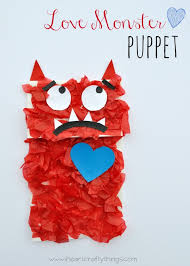 We Have Been Reading It Every Day Recently And Made This Cute Love Monster Paper Bag Puppet Kids Craft To Go Along With