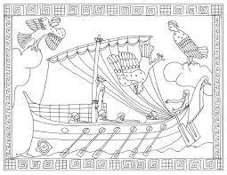 Homere Ulysse Et Les Sirenes Mondes Aquatiques Coloriages