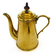Small Dutch Brass Coffee Pot Circa 1875