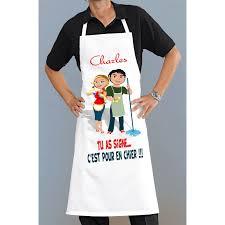 tablier de cuisine homme personnalisé tablier de cuisine homme ou femme rigolo pour cuisiner ou travailler