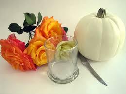 Fake Carvable Pumpkins by Pumpkin Vase Flower Arrangement Tutorial In 5 Minutes Or Less