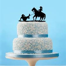 Unique Cowboy Cake Topper Rustic Bride Groom And Horse Wedding Funny Engagement Party Decoration