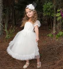 flower dress ivory lace country girls dress rustic girls