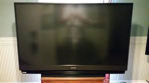 mitsubishi dlp tv 73 inch white dots repair problem has screen