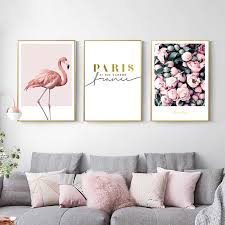 nordic dekorative malerei flamingo licht luxus esszimmer sofa hintergrund wand leinwand malerei