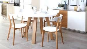Wood Round Dining Table For 4 Set Four Stunning Oak And White Gloss Brown Wooden Tabl