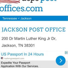 USPS Post fices 200 Martin Luther King Jr Dr Jackson TN