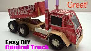 How To Make A Truck At Home - Car Remote Control Using Coca Cola ...