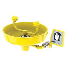 Watersaver Faucet Company Careers by Condor Eyewash Station Yellow 16 In Depth 49ev49 49ev49 Grainger