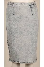 denim bodycon pencil midi highwaisted stretch acid wash skirt 8 10