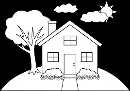 Simple Drawing Of A House 10 Pics Coloring Pages