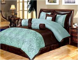 Turquoise And Brown Bedding 07 Teal