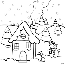 Christmas House Coloring Page Would You Like To Offer The Most Beautiful Your Friend Will Find Lots Of Them In