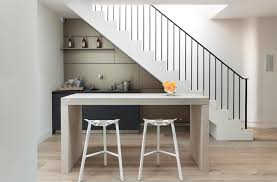 Grey Stairs Home Bar