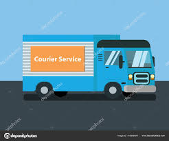 100 Truck Courier Service Vector Illustration Stock Vector