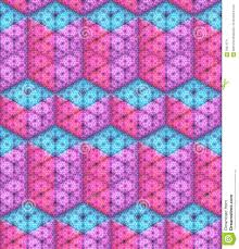 100 Rectangular Parallelepiped Vector Seamless Pattern Isometric Cubes And