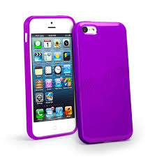 Soft TPU Case Cover For iPhone 5C Purple [7201] US$ 2 99