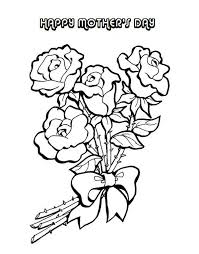 Flower Arrangement For Mom On Mothers Day Coloring Page Batch