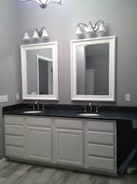 Chandelier Over Bathroom Sink by Master Bathroom Large 44 5 X 32 5 White Mirror Blue Pearl