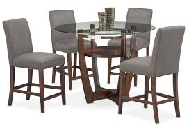 Value City Furniture Kitchen Table Chairs by Alcove Counter Height Table And 4 Side Chairs Gray Value City